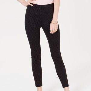 Maison Jules Flocked Dotted Skinny Pants